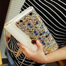 Luxurious and noble austrian rhinestone day clutch 2015 new clutch purse Wedding Crystal Purses Evening bag women bag handbags