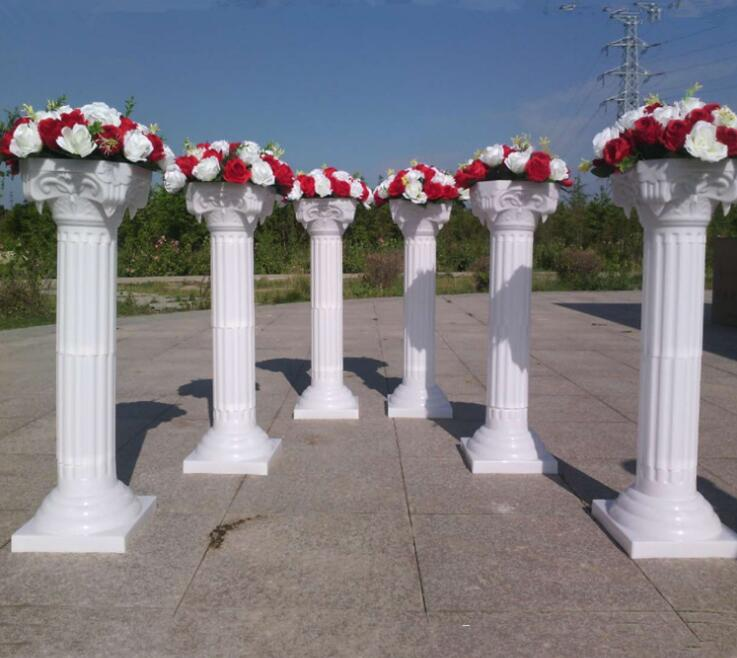 Wedding Decoration White Roman Pillars Detachable Plastic Wedding Column With Flower Pots In