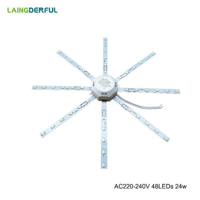 LAINGDERFUL LED Light Board Celling Lamp 5730SM Bright White Octopus Round Energy Saving Light Lamp 12w/16w/20w/24w