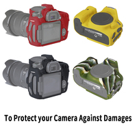 Camera Bag for CANON 80D Lightweight Camera Bag Case Protective Cover for 80D Camouflage Black colour