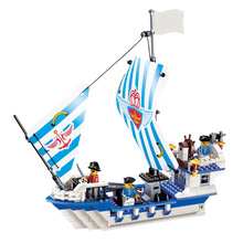 New Arrival DIY PIRATES Pirate ship JS-Dauntless Enlighten Construction Brick Building Blocks Toys scale models playmobil