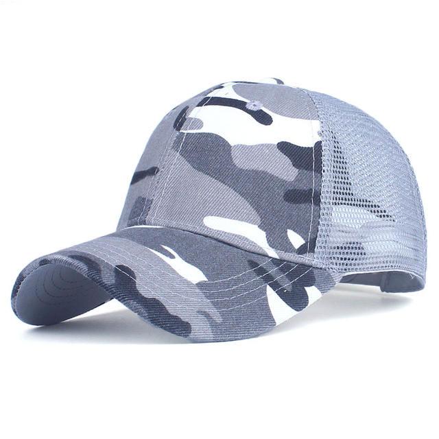 Camouflage Baseball Cap Mesh Cap for Men Women
