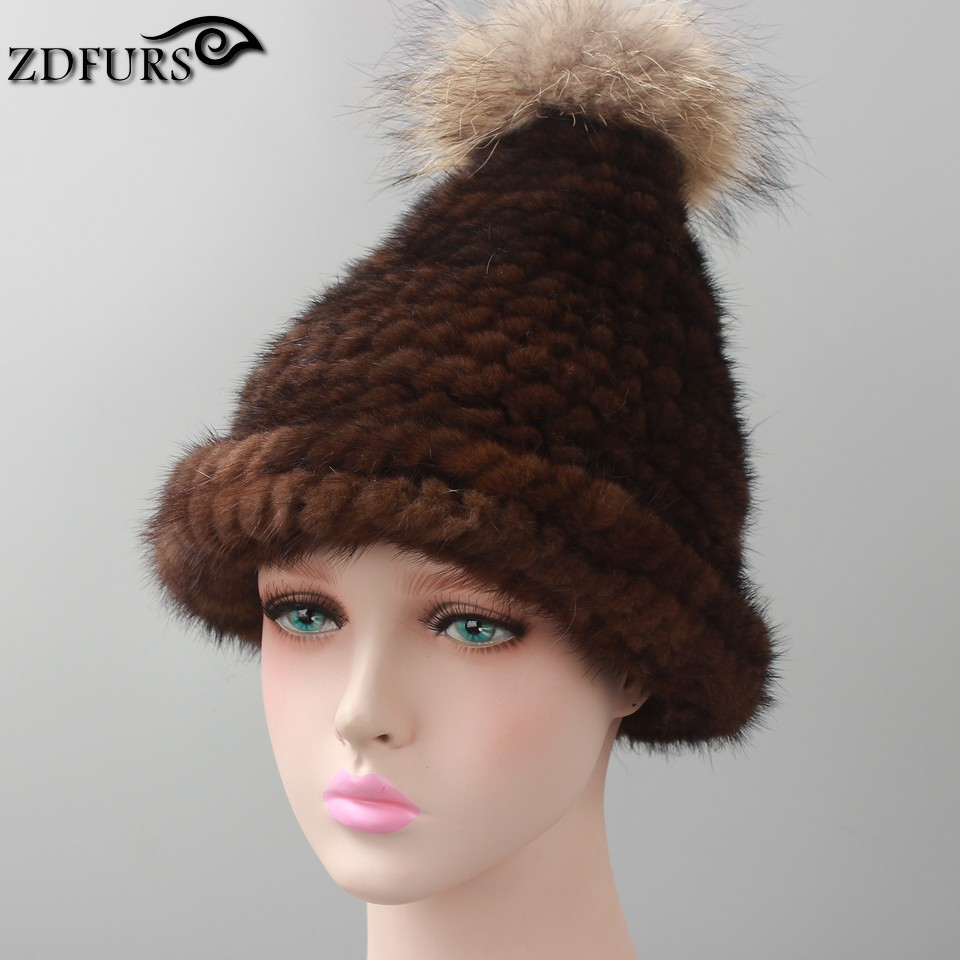 Women winter fur hat knitted mink fur beanies cap lovely cat style hat 2016 new arrival fashion russian caps women s cap knitted mink fur hat for women winter warm fashion leather fur headdress beanies russian mom ladies caps
