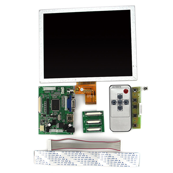 EJ080NA-04C 8 inch 1024x768 LCD Display HDMI VGA 2AV Controller Driver Board цена и фото
