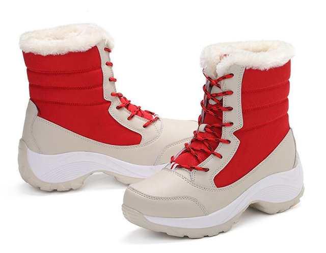 Hiver chaud fille chaussures de loisir à la mode filles bottes en simili cuir polyuréthane avec velours Sport chaussures étudiant course chaussure #3