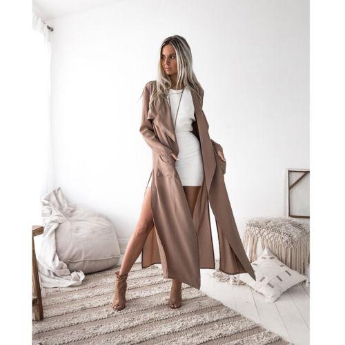 2018 Frauen Mantel Damen Langarm Strickjacke Wasserfall Jacke Outwear Lange Maxi Mantel