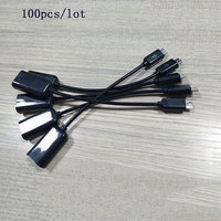 100pcs/lot Micro USB OTG Cable Data Transfer Micro USB Male to Female Adapter for Samsung HTC Android
