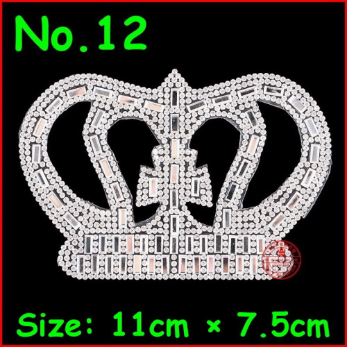 Detail Feedback Questions about 1 pcs Crown Patches HotFix Motifs Iron On Rhinestones  Patch White Crystal Applique For Children Women Kids Clothes Wedding ... 5c6803ee21c6