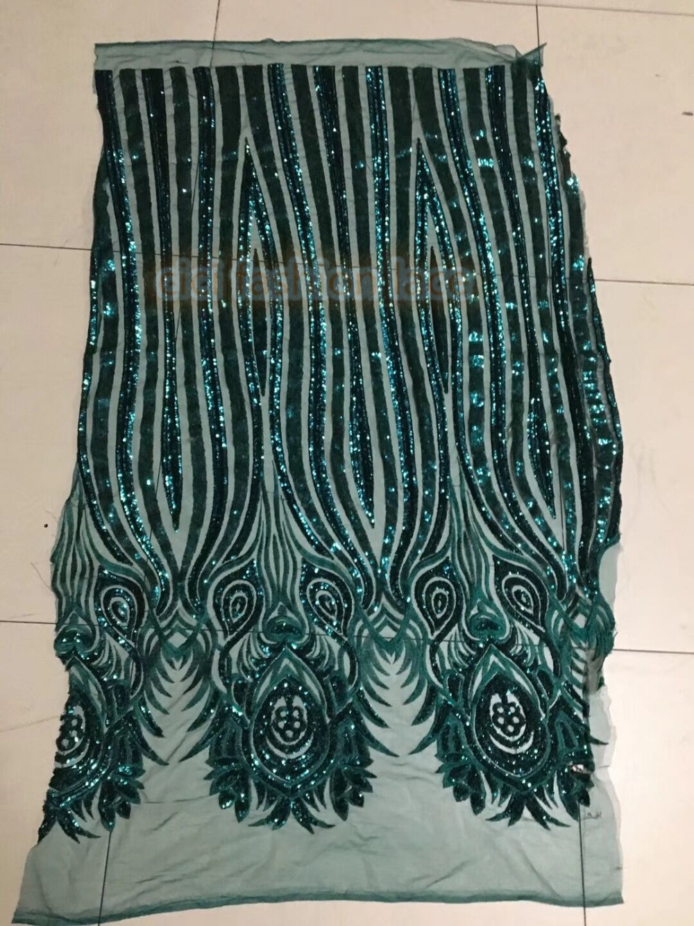 super quality african Embroidered tulle mesh fabric CiCi 42073 with sequins