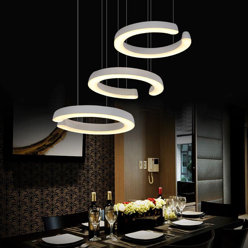 3 heads table offhead pendant light C type restaurant led pendant lamp dining room hanging lighting