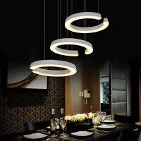 3 heads table offhead pendant light, C type restaurant led pendant lamp, dining room hanging lighting