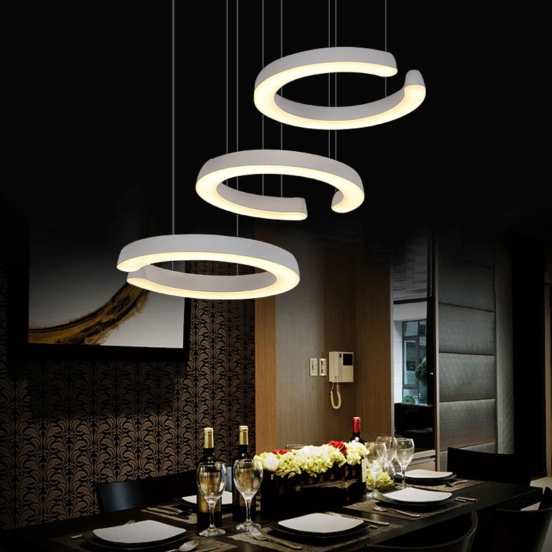 3 heads table offhead pendant light c type restaurant led for 3 light dining room light