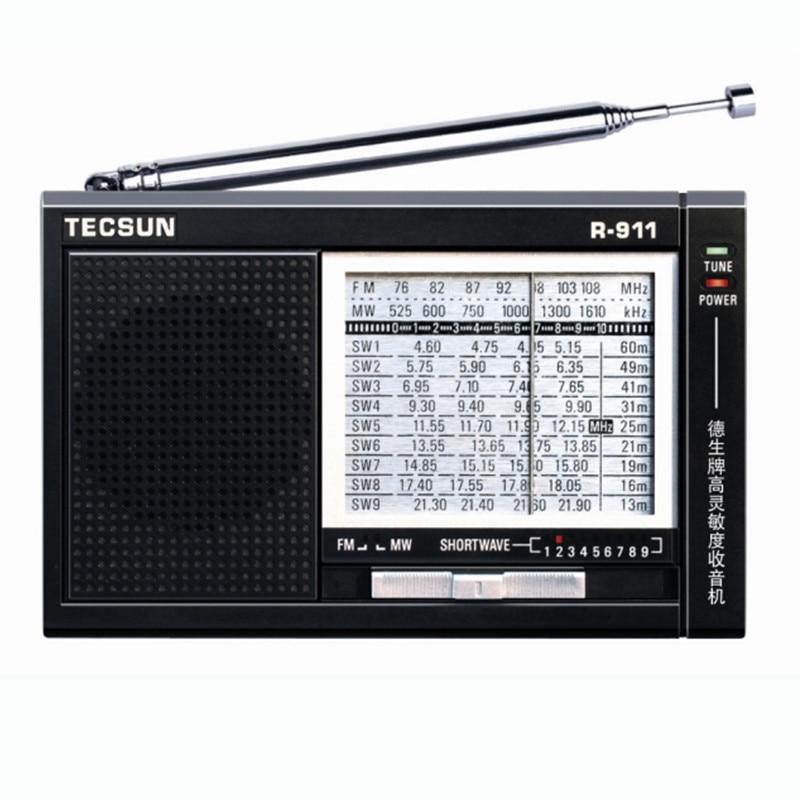 Der GüNstigste Preis Tecsun R-911 Am/fm/sm 11 Bands Multi Bands Radio Receiver Übertragen Mit Eingebauter Lautsprecher R911 Radio