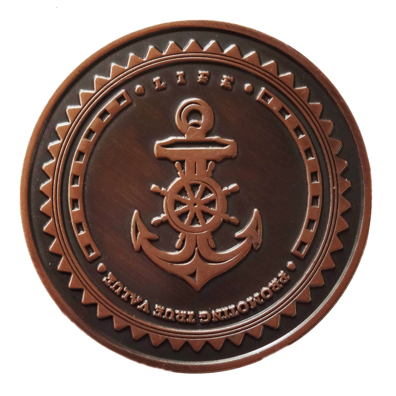 Wholesale Antique Cronze Challenge Coat Hot Sale US Nautical Military Souvenir Coins in Non currency Coins from Home Garden