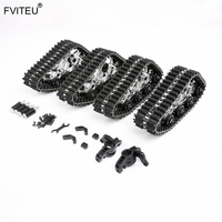 Metal Snowmobile Tires Conversion Kit Track assembly for 1:5 Losi 5ive T ROVAN LT KM X2