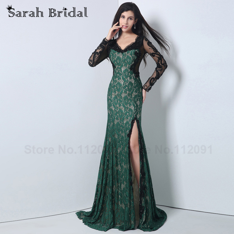 Online Get Cheap Black and Green Lace Prom Dress -Aliexpress.com ...