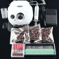 OPHIR Pro 30000 RPM Electric Nail Máquina Da Broca Unhas de Acrílico com Pedal + Brocas + Lixar Bandas para Removedor de Cola de unhas
