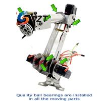 6 Axis Mechanical Robotic Arm Clamp with Servos DIY Kit for Robot Smart Car Arduino SCM DIY