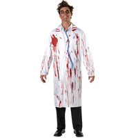 HALLOWEEN BLOODY Women DOCTOR Uniform Nurse Skirt Costume Cosplay For Adult