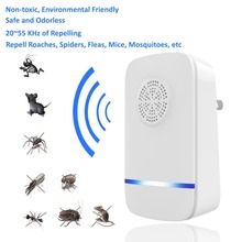 Electronic Ultrasonic Mosquito Repeller Mouse Repellent Killer Insect Spiders Cockroach Trap Pest Control AU/US/EU Plug