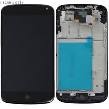 For Lg Google Nexus 4 E960 Display+Touch Glass Digitizer With Lcd screen With Frame Assembly