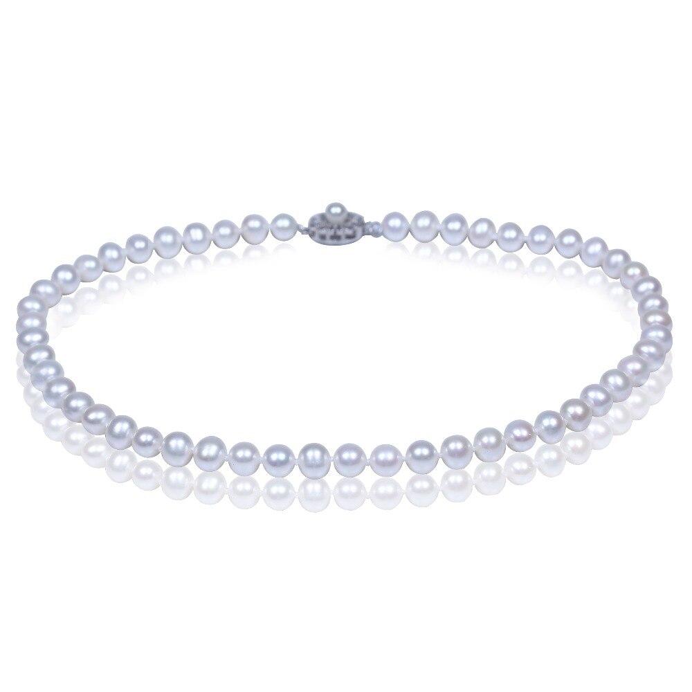Perle d'eau douce naturelle blanche en 925 fermoir en argent bijoux ras du cou collier d'amour pour les meilleurs amis cadeaux de noël