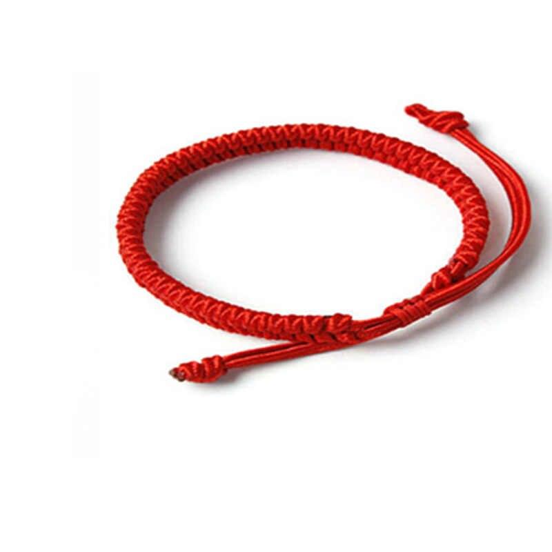 حار الملونة حبل محظوظ الأحمر سلسلة الأحمر الموضوع سحر أساور للنساء الرجال مجوهرات هدايا Bieklik