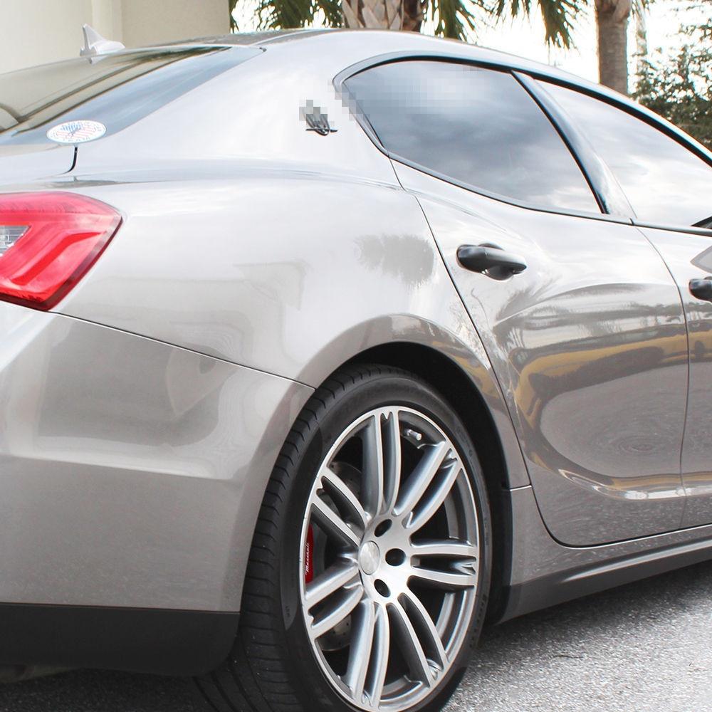 Maserati Quattroporte GranTurismo Ghibli RH /& LH Side Logo Matte Black Emblem