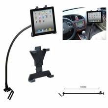 Portátil tablet soporte del piso del coche asiento de coche flexible cuello de cisne soporte para ipad 7-10.1 pulgadas tablet pc