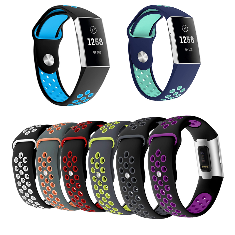 Popular Nike Sport Silicone Watch Band for Fitbit Charge 3 Uniform Size Replacement Watchbands Wristwatch Bracelet Strap fitbit watch