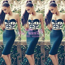 wholesale New Bandage two piece set Europe and America Celebrity same paragraph Fashion sexy Cocktail party Bandage dress
