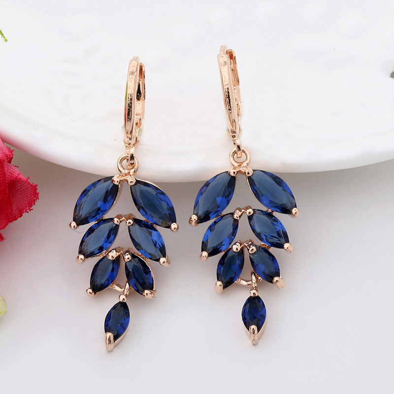 Fashion Fine High Quality Jewelry Gilded Rhinestones Crystal Droplet Profile Christmas Gift Drop Earrings For Women 113