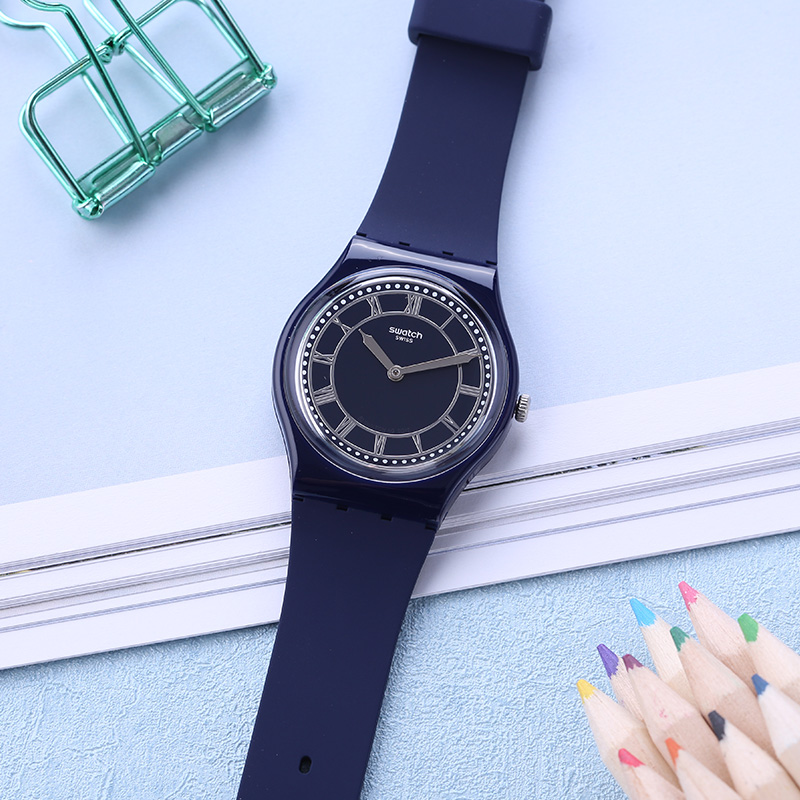 Swatch Watch Classic Color Code Series Blue Neutral Quartz Watch GN254Swatch Watch Classic Color Code Series Blue Neutral Quartz Watch GN254