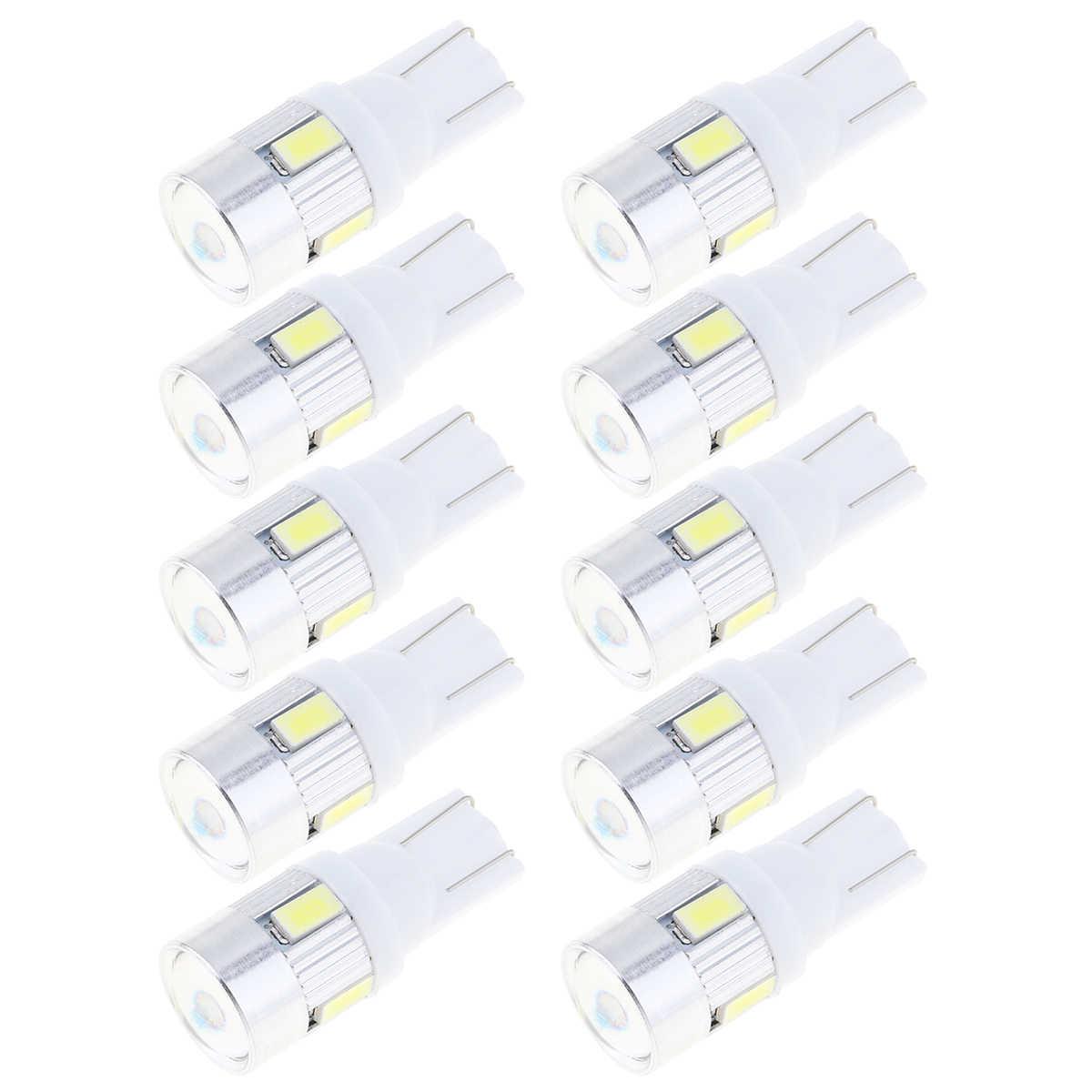10 ピース/ロット Led 車の Dc 12v ランパーダ光 T10 5630 スーパーホワイト 2825 158 192 168 194 w5w 6-SMD 電球オートウェッジクリアランスランプ