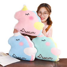 New Anime Style Unicorn Pillow Plush Toy Sofa Cushion Home Decoration Childrens Gift