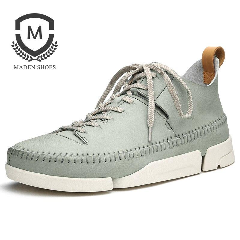 Маден высокое качество Европейский мода женская обувь весна осень кожа свободного покроя обувь дикий воздухопроницаемый белый три лоскута обувь