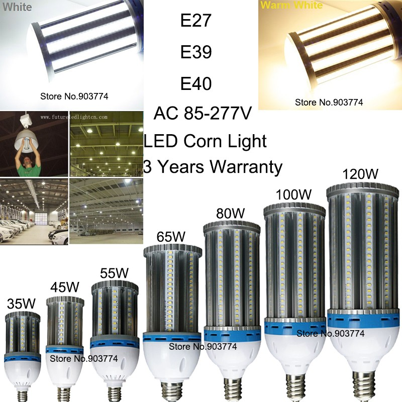 HIGH POWER 100W LED Corn Light SMD5630,LED Canopy/Flood/Superstore/Post Top/Tunnel Lamp, E26/E27/E39/E40, Clear/Frosted PC Cover free shipping e26 e39 100w led corn bulb for post light fixture with etl listed