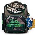 Delune 2019 зеленый танк шаблон школьные ранцы для мальчиков девочек рюкзаки с персонажами мультфильмов детский ортопедический рюкзак первокла...
