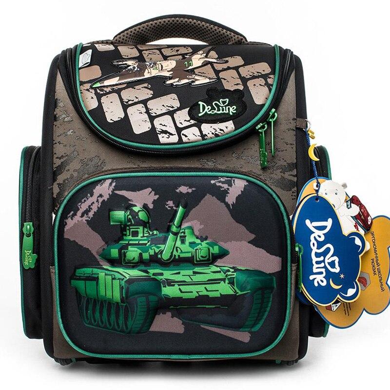 Delune 2019 vert réservoir modèle sacs d'école pour garçons filles Cartoon sacs à dos enfants orthopédique sac à dos primaire Mochila Escolar