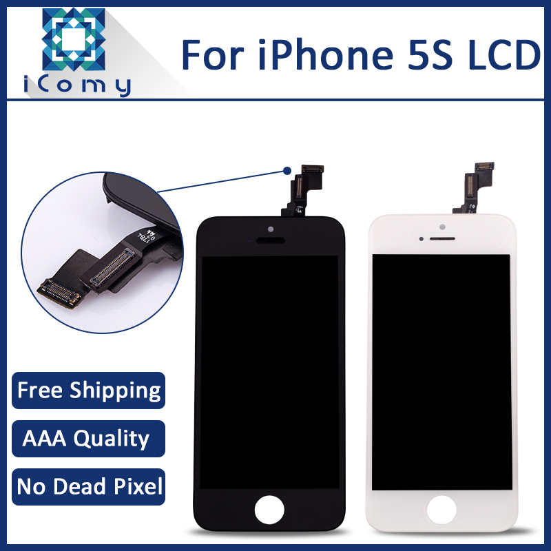 iComy 10PCS Grade AAA For Apple iPhone 5s LCD Display Touch Screen Digitizer Assembly Replacement free