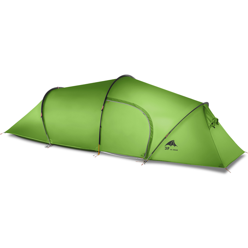 3f ul gear 2 person 2 room 4 season Tunnel tent 15D silicon outdoor camping hiking climbing ultralight large space 210T tents 995g camping inner tent ultralight 3 4 person outdoor 20d nylon sides silicon coating rodless pyramid large tent campin 3 season