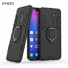Armor Case Pocophone F1 Cover Metal Finger Ring Holder For Xiaomi Magnetic Phone