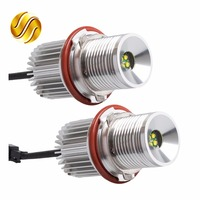 2 Pieces 1 Set 2 20W 40W CREE Chip LED Marker Angel Eyes 7000K XENON White