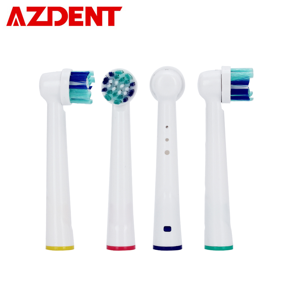 4pcs Universal Replacement Toothbrush Heads Electric Toothbrush Head Soft-bristled fit B raun Toothbrush Tooth Brush Head Oral image