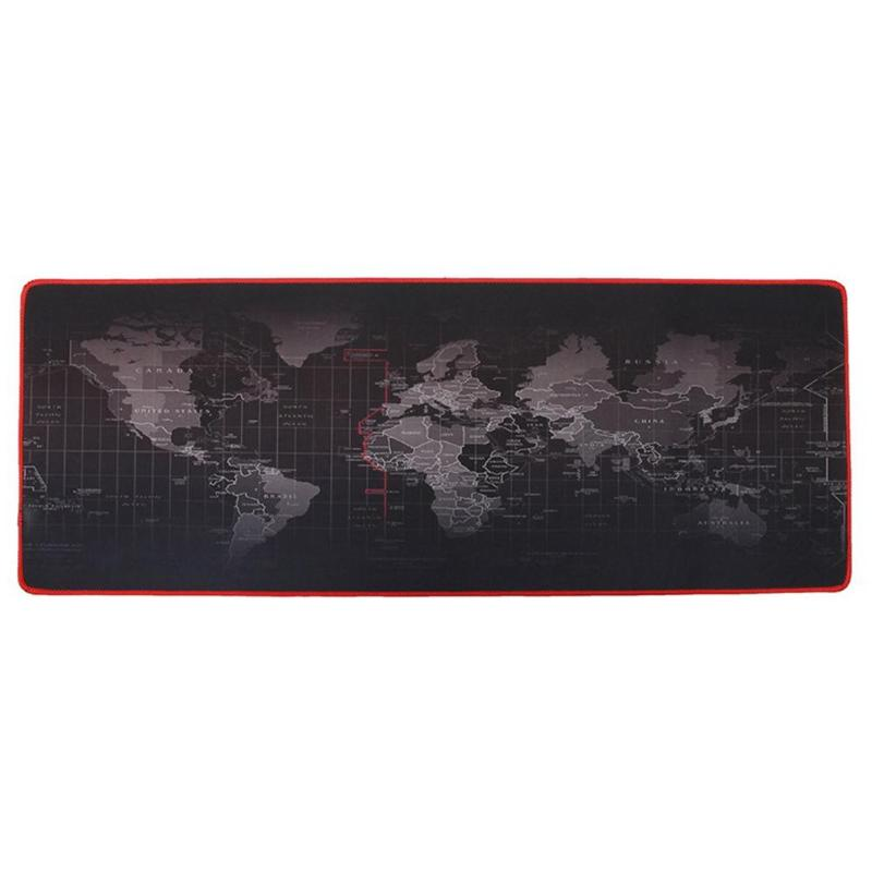 World Map Extra Large Mouse Pad Mat Natural Rubber 0.2cm Thick Table Desktop Computer Gaming Mousepad 30x60/30x70/30x80/40x90cm