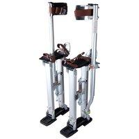 Silver Professional Grade Adjustable Drywall Stilts Taping Paint Stilt Aluminum 24 40