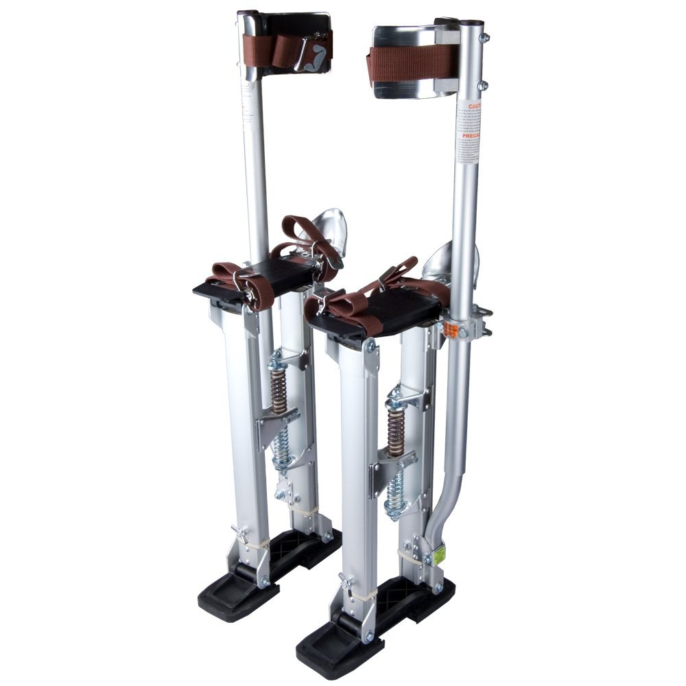 цены Silver Professional Grade Adjustable Drywall Stilts Taping Paint Stilt Aluminum 24