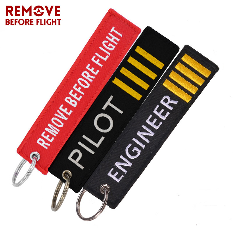Fashion Pilot Key Chain Bijoux Keychain for Flight Crew Aviation Promotion Gifts Tag Porte Clef OEM Key Ring Mixed 3 PCS LOT in Key Chains from Jewelry Accessories