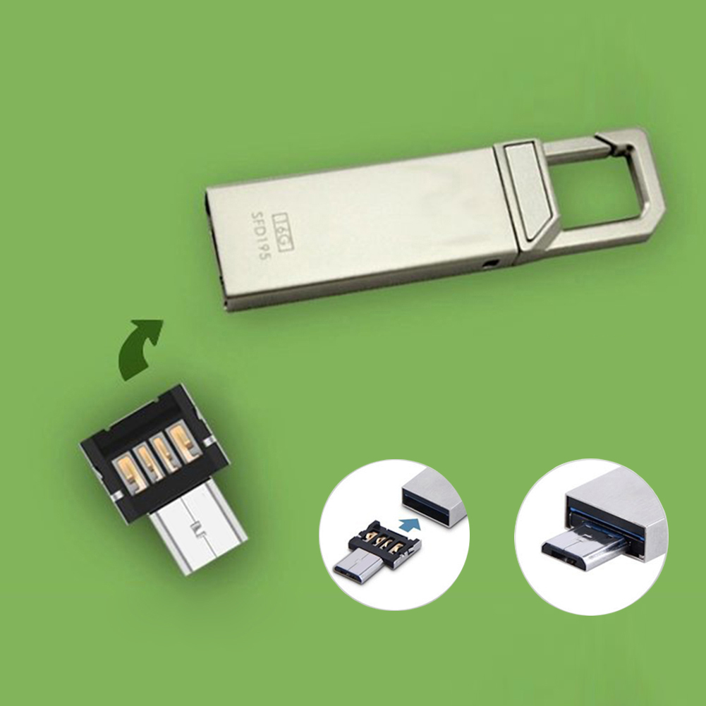 USB to Micro USB Converter OTG Adapter Connector Replacement Module Parts for USB Flash Drive for Android Smartphone Tablet PC