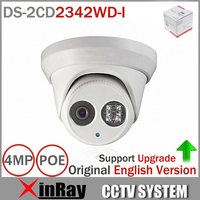 Hik Original English Version DS 2CD2342WD I 4MP WDR EXIR Turret Network Camera MINI Dome IP